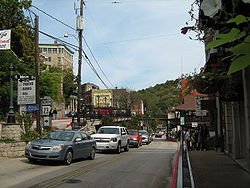 Main Street downtown Eureka Springs Arkansas.JPG