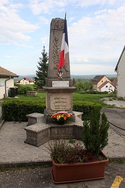Monument aux morts de Malbrans (Doubs).