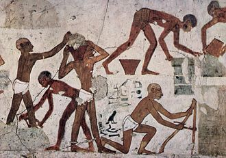 Sackcloth - Workers in ancient Egypt wearing loincloths, circa 1500–1450 BCE