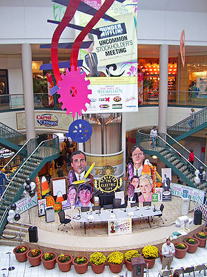 Display in atrium of Mall at Steamtown, Scrant...