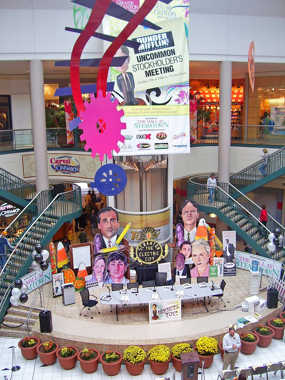 Mall at Steamtown atrium during Office convention