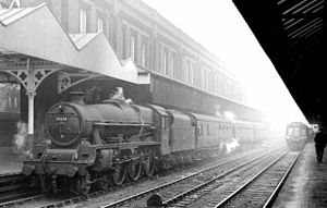 Manchester Central railway station - Manchester Central Station on a winter's day in 1961