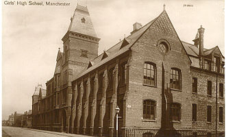 Manchester High School for Girls - The Manchester High School for Girls, Dover Street (since 1947 part of the Victoria University of Manchester)