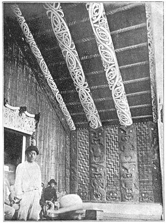 Ngāti Porou - Image: Maori rafters in house