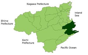 Lage Anans in der Präfektur