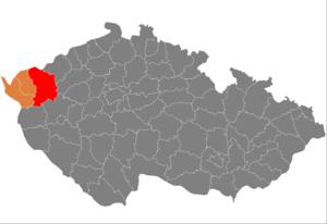 Vị trí huyện Karlovy Vary trong vùng Karlovy Vary trong Cộng hòa Séc