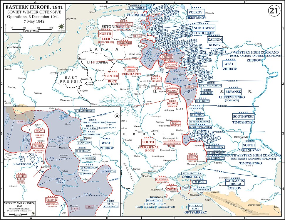 Map Soviet 1941 Winter counteroffensive