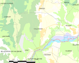 Mapa obce Collonges