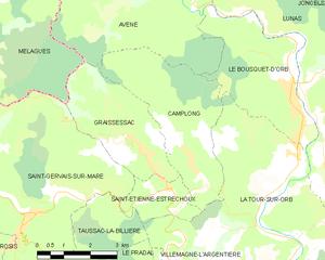 Camplong - Map