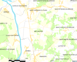 Baudrières – Mappa