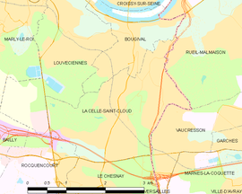 Mapa obce La Celle-Saint-Cloud