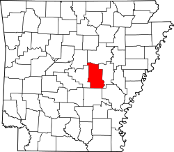 map of Arkansas highlighting Lonoke County
