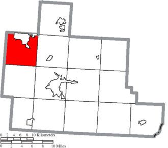 York Township, Athens County, Ohio - Image: Map of Athens County Ohio Highlighting York Township