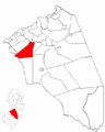 Map of Burlington County highlighting Mount Laurel Township.png