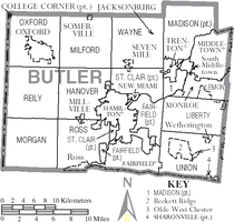 Municipalities and townships of Butler County