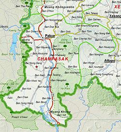 Map of Champasak Province