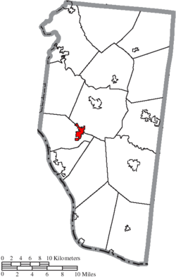 Location of Amelia in Clermont County