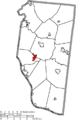 Map of Clermont County Ohio Highlighting Amelia Village.png