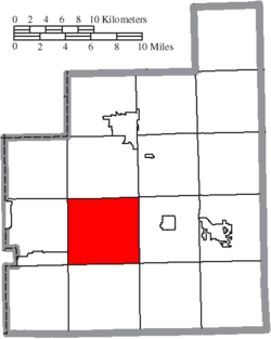 Location of Newbury Township in Geauga County