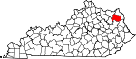 State map highlighting Carter County