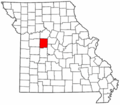 Map of Missouri highlighting Pettis County.png