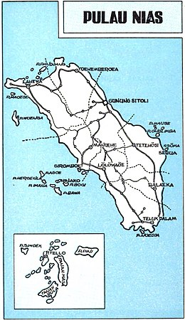 Map of Nias Island, Republik Indonesia, Propinsi Sumatera Utara, p495.jpg