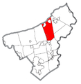 Map of Plainfield Township, Northampton County, Pennsylvania Highlighted.png