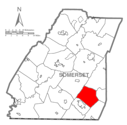 Map of Somerset County, Pennsylvania Highlighting Northampton Township