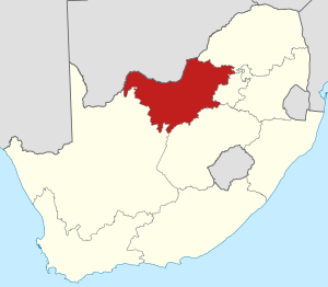 Map of South Africa with the North West highlighted.svg