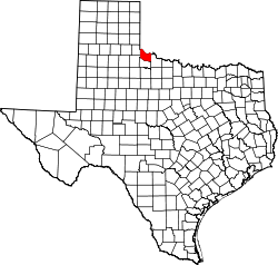 Map of Texas highlighting Hardeman County.svg
