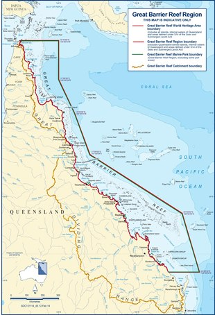 Barrier Reef Australia Map.Great Barrier Reef Wikipedia