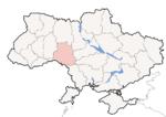 Oblast di Vinnycja - Mappa di localizzazione