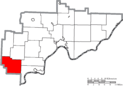 Location of Decatur Township in Washington County
