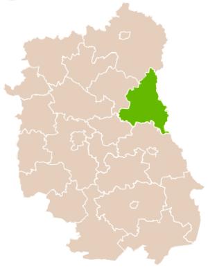 Włodawa County - Image: Mapa Pow Włodawski