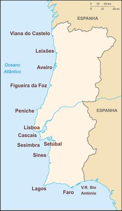 mapa de portugal com os cabos Lista de portos de Portugal – Wikipédia, a enciclopédia livre mapa de portugal com os cabos