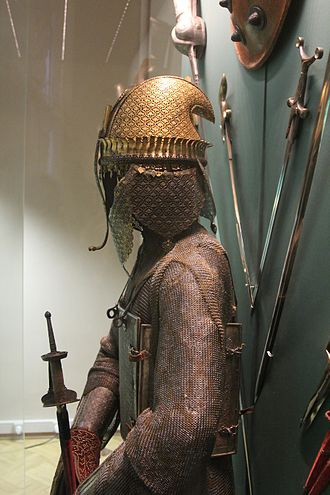 Maratha - Typical Maratha helmet with curved back.