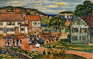Marblehead, Massachusetts - Marblehead, watercolor, Maurice Prendergast, 1914. Museum of Fine Arts, Boston