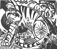 MARC, Franz Tiger, 1912