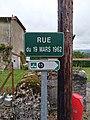 Marigna-sur-Valouse - Rue du 19-Mars-1962 (plaque).jpg