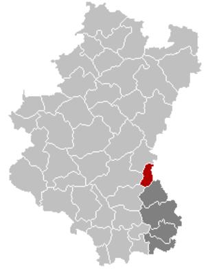 Martelange - Image: Martelange Luxembourg Belgium Map