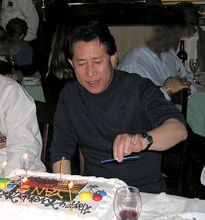 Celebration of Martin Yan's birthday with frie...
