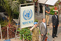 Martin Kobler, new SRSG in the D.R. Congo, arrives at MONUSCO HQ in Kinshasa to assume his duties, 13 August 2013. (9501222671).jpg