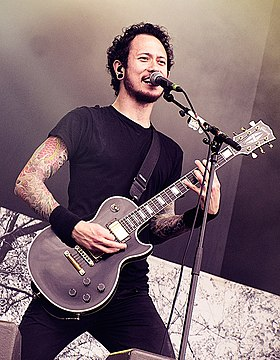Matt Heafy of Trivium at With Full Force festival, 2011 Matt Heafy live 2012.jpg