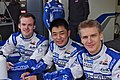 Matthew Howson, Jim Ka To and Alexander Impertori Drivers of KCMG Morgan Nissan (8669065264).jpg