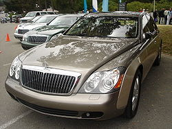 Several Maybach 57 and 62 models at the 2005 Concours d'Elegance in Pebble Beach, CA.