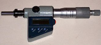 Linear actuator - A mechanical linear actuator with digital readout (a type of micrometer).