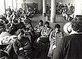 Mekog kantine, akties i.v.m. C.A.O. overleg Hoogovens. Geschonken in 1986 door United Phtos de Boer bv. Identificatienummer 54-015673.JPG