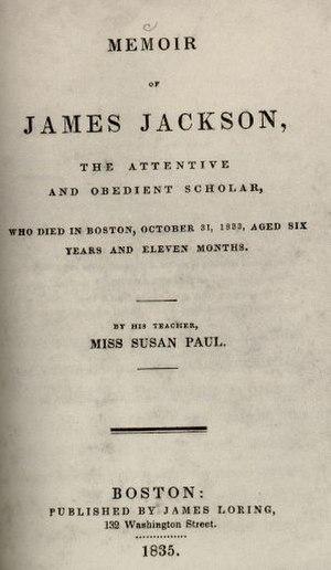 Susan Paul - Image: Memoir of James Jackson by Susan Paul, 1835, cover