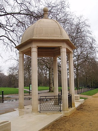 Memorial Gates, London - Image: Memorial Gates, Constitution Hill (February 2010) 7