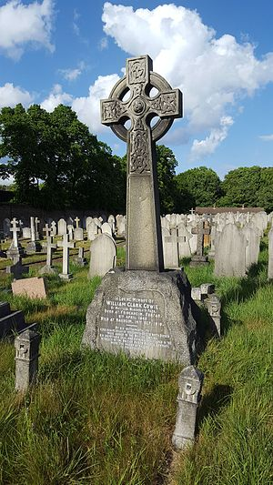 William Cowie (merchant) - Memorial to William Clark Cowie, in Charlton cemetery.